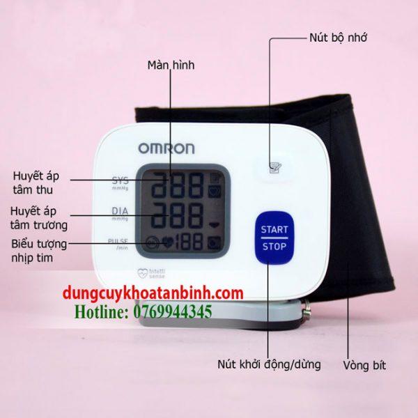 Máy đo huyết áp Omron Hem 6161 Chính hãng